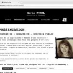 Page prestations - site Marie Fidel