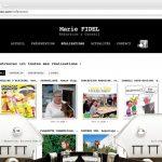 Page Réalisations - Site Marie Fidel