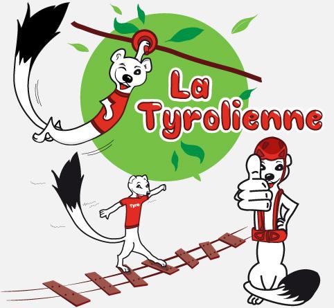 Logo la tyrolienne, illustration hermine